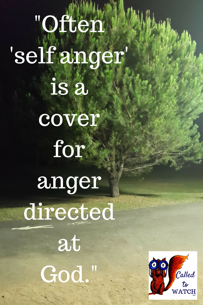 After a chronic illness diagnosis - Often self anger is a cover for anger directed at someone else.