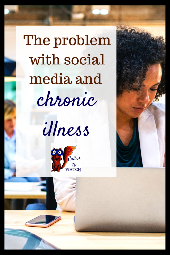 social media chronic illness #chronicillness #suffering #loneliness #caregiver #pain #caregiving #spoonie #faith #God #Hope