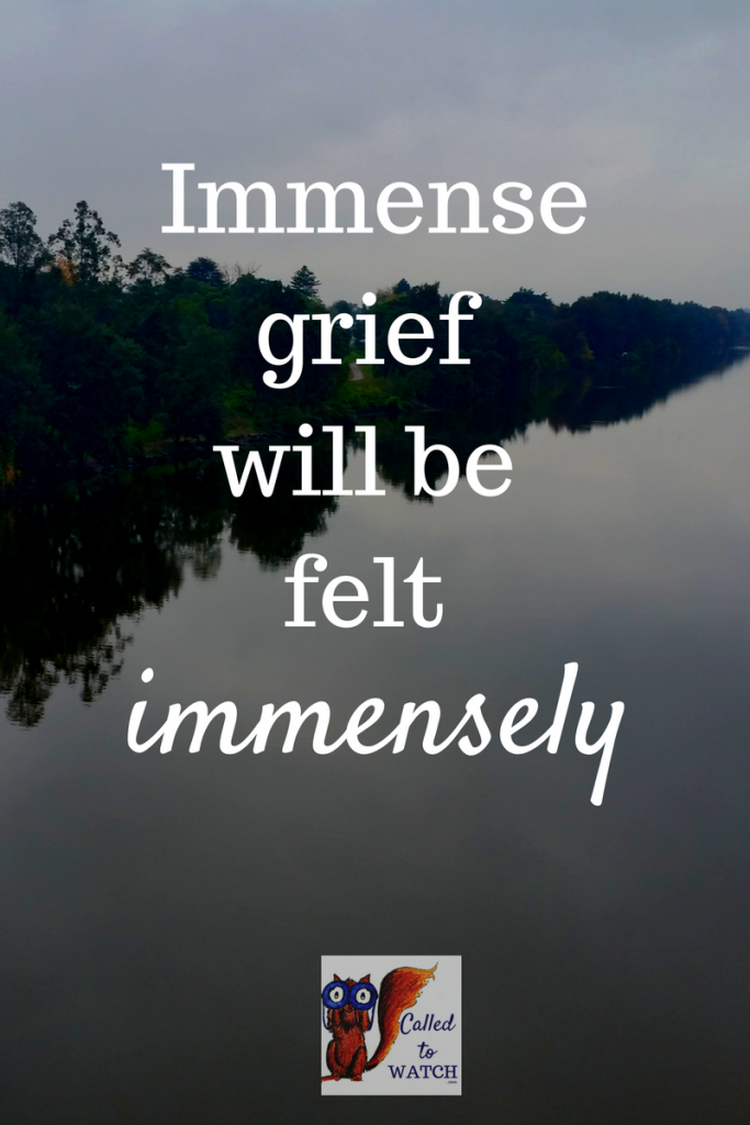 immense grief will be felt immensely. And that's okay | www.calledtowatch.com