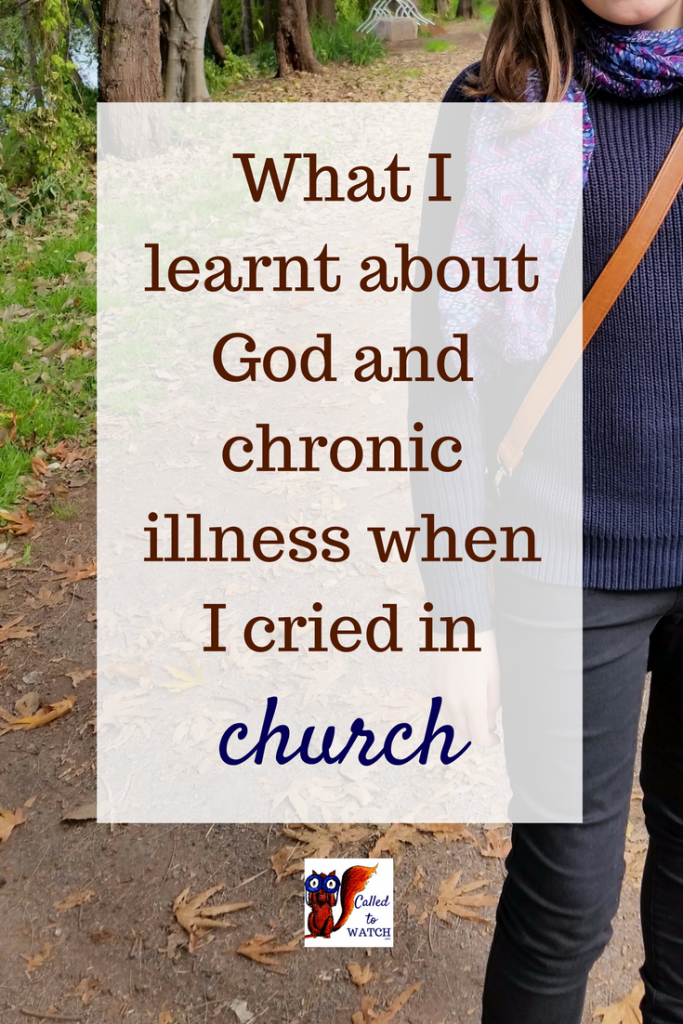 What I learnt about God and chronic illness when I cried in church_ www.calledtowatch.com _ #chronicillness #suffering #loneliness #caregiver #pain #caregiving #emotions #faith #God #Hope I talked to God, watched some ants and realised I had been an idiot, I was not brave at all.