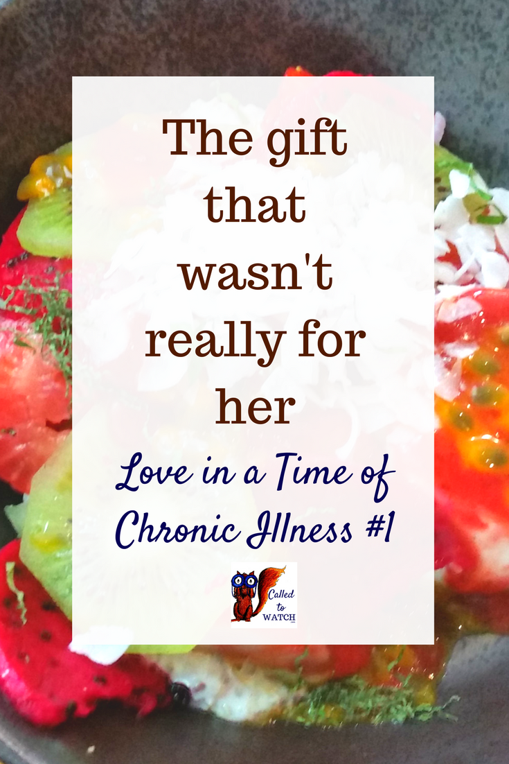 I tried to understand and I tried not to get angry. Yet as we sat opposite each other in the restaurant, I couldn_t help but feel... www.calledtowatch.com _ #chronicillness #suffering