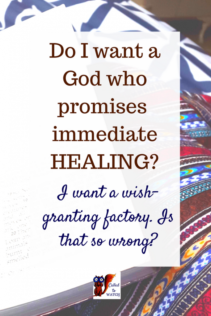 Why praying for healing is tricky, the big question I wanted answered, and where to go from herewww.calledtowatch.com _ #chronicillness #suffering #loneliness #caregiver #pain #caregivin