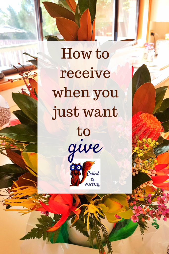 how to receive when you just want to give www.calledtowatch.com _ #chronicillness #suffering #loneliness #caregiver #pain #caregiving #emotions #faith #God #Hope