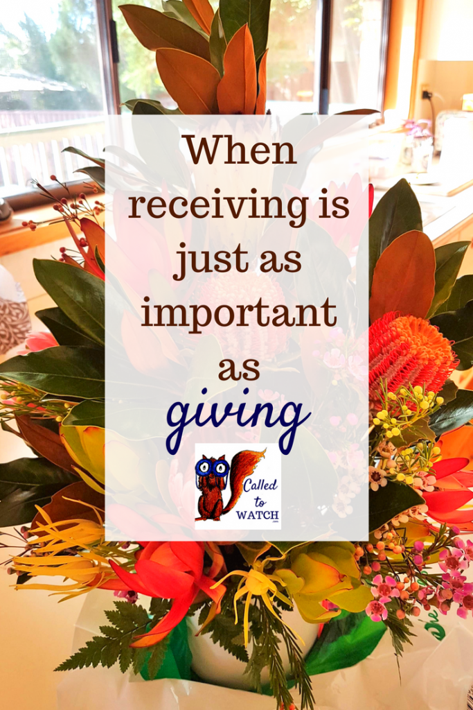 when receiving is just as important www.calledtowatch.com _ #chronicillness #suffering #loneliness #caregiver #pain #caregiving #emotions #faith #God #Hope
