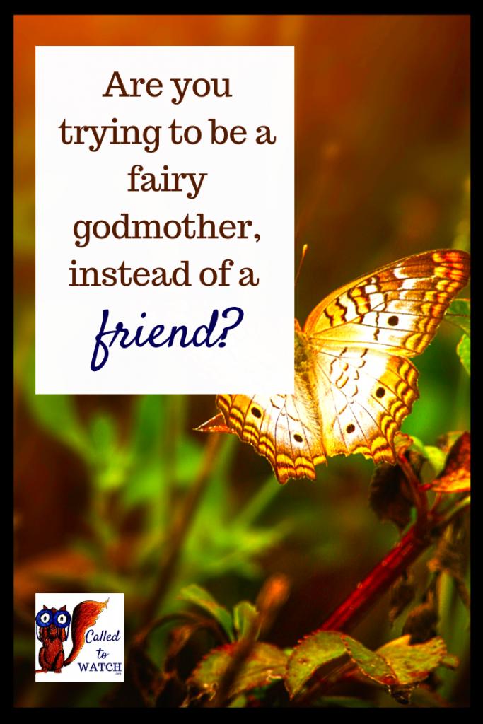 not a fairy godmother www.calledtowatch.com #chronicillness #suffering #loneliness #caregiver #pain #caregiving 22#spoonie #faith #God #Hope - Copy